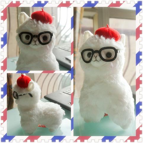 Arpakasso Alpacasso Alpaca Plush Painter Hat With Glasses