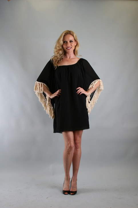 Green Apple VaVa by Joy Han Amy Tassel Dress Black Online Store Powered by Storenvy from shopgreenapple.storenvy.com