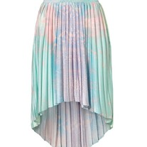 High Low Pleat Galaxy Skirt