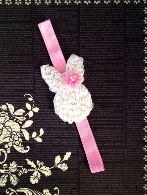 Shabby Bunny Easter Headband From Jady Bug Bows Storenvy