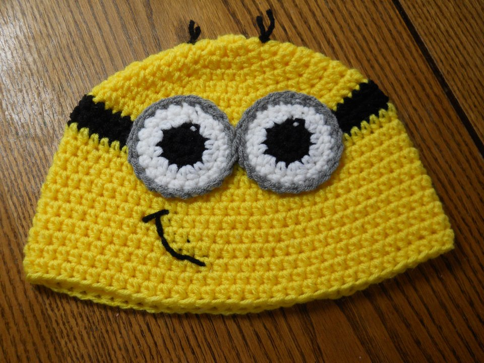 Crochet Hat Pattern For Minion : easy crochet minion hat