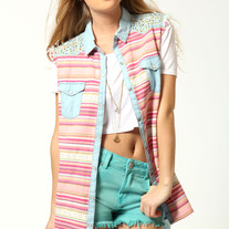 Aztec Denim Shirt