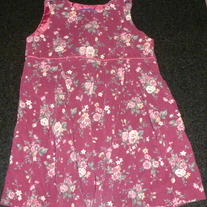Maroon Floral Dress-Ralph Lauren Size 4T