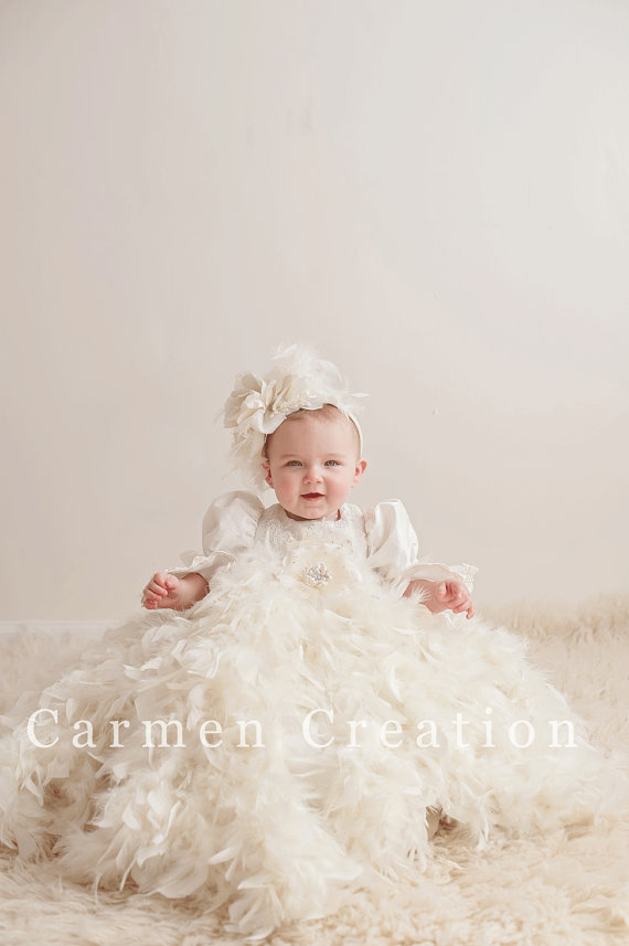 Victorian Feather Christening Gown · Carmen Creation · Online Store ...