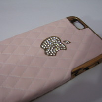 New Luxury Designer Pink Synthetic Sheep Leather iPhone 5 Case