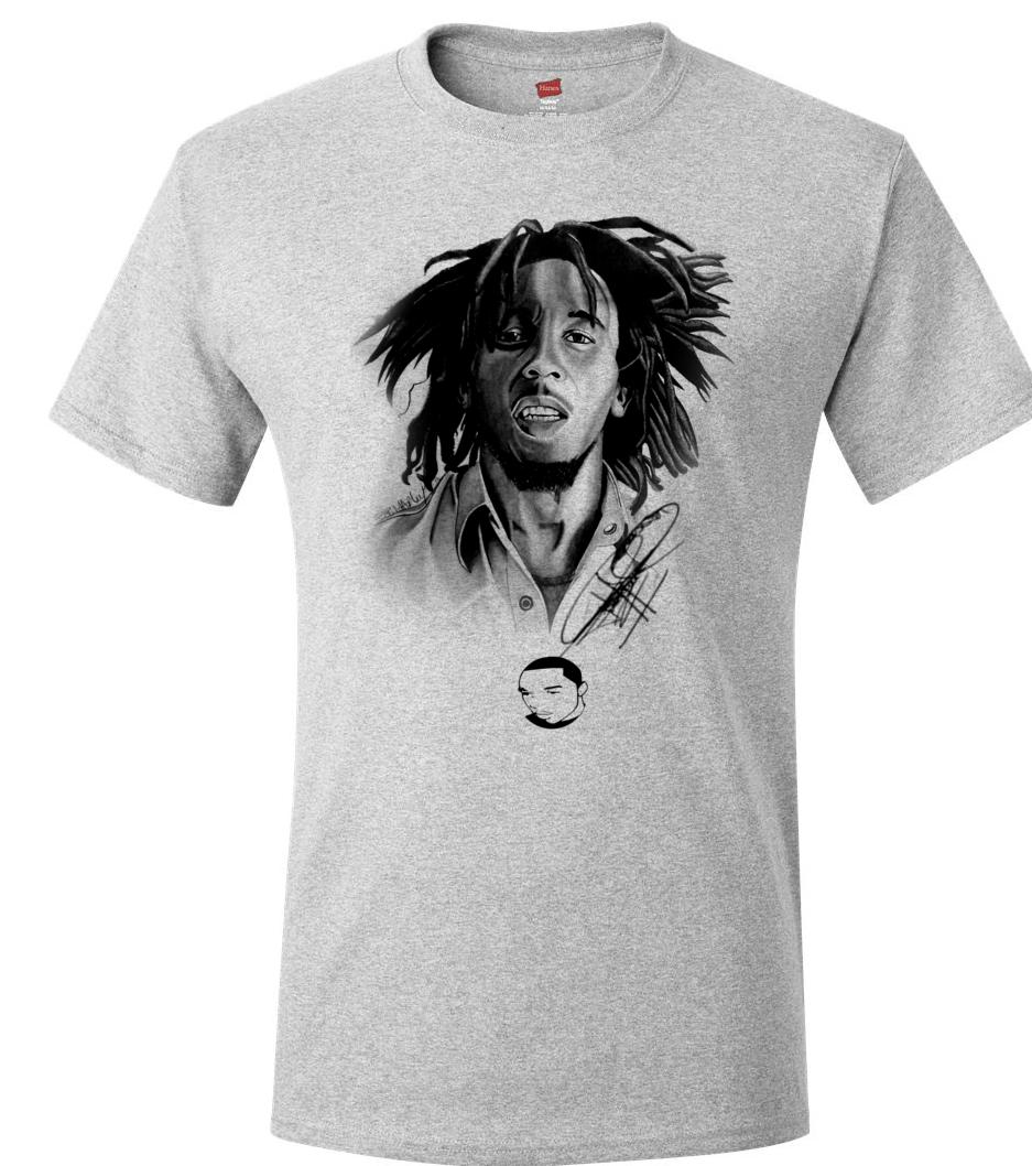 The t shirt store bob marley men 39 s t shirt online for T shirt printing columbia mo