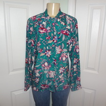 Vintage Green Plus Size Tie Shirt Size 16!!