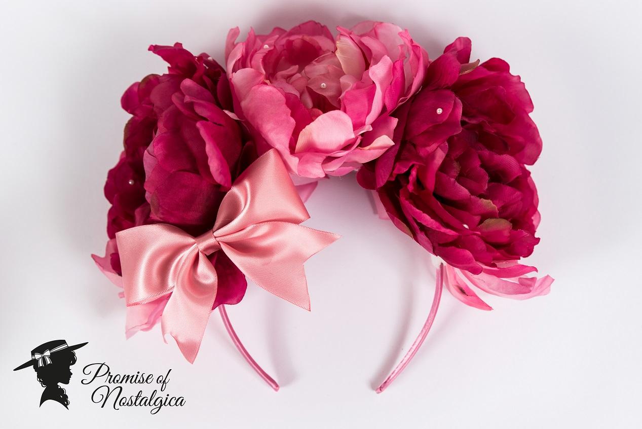 Huge pink flower headbow pearl applications promise of huge pink flower headbow pearl applications mightylinksfo