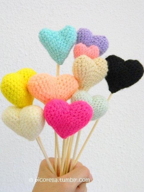 Big Heart Amigurumi Pattern : PDF Amigurumi Hearts // Amigurumi Hearts Pattern ...