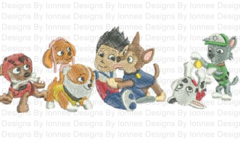 All The Paw Patrol Characters Machine Embroidery Designs In 2 Sizes On Storenvy