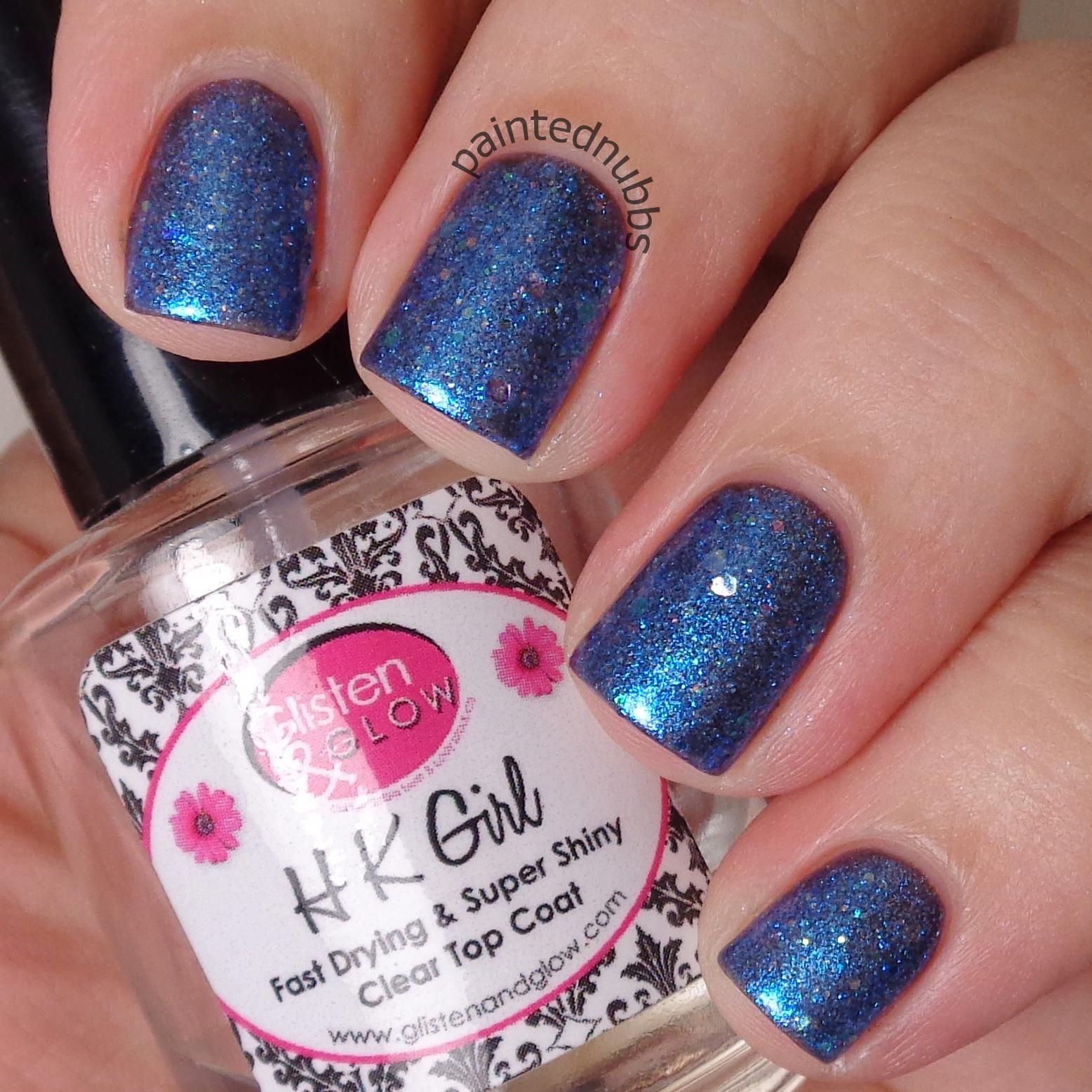 Frost Bite - Custom Winter Interference Iridescent Glitter Nail ...