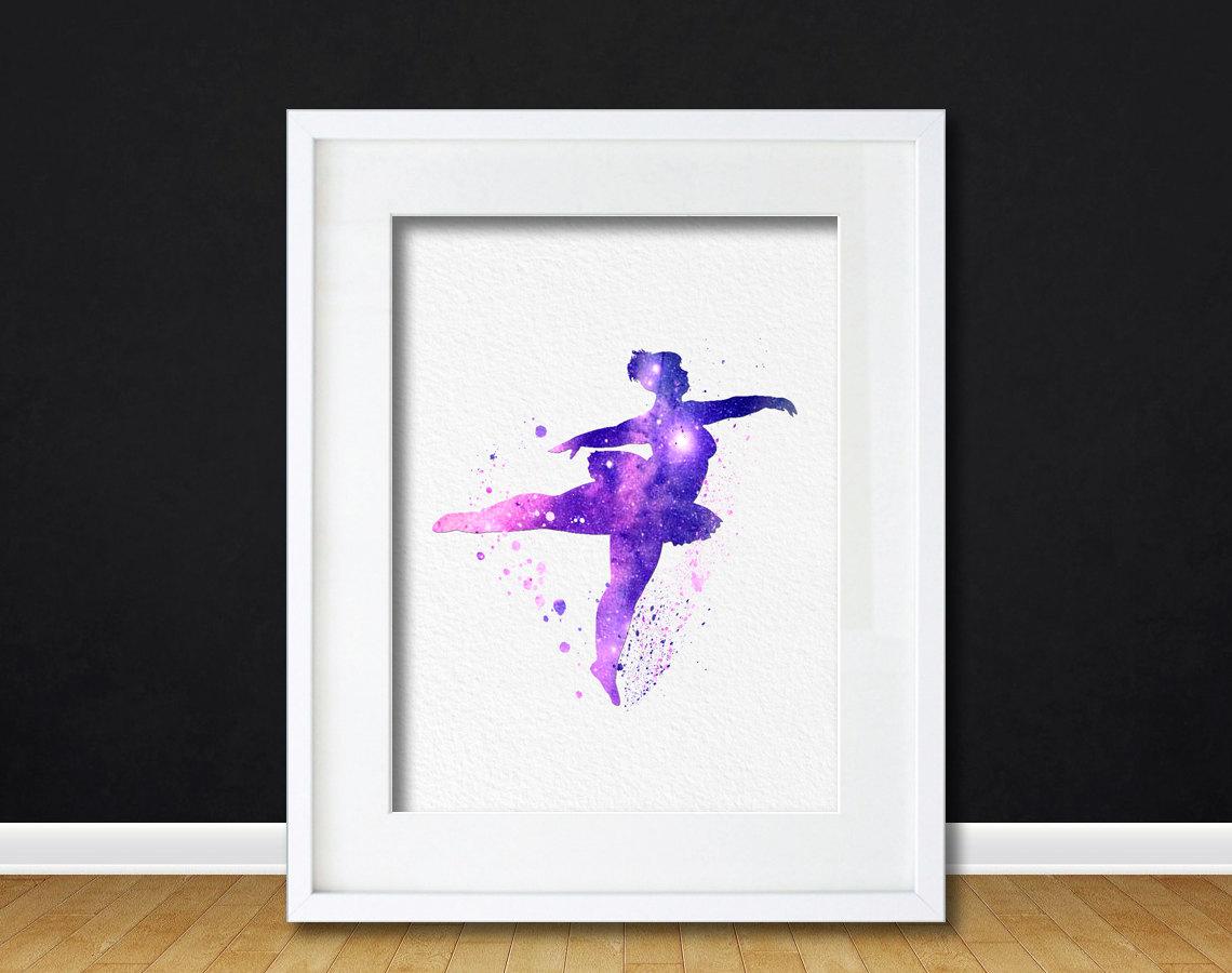 Watercolor Art Plus Size Ballerina gift Modern 8x10 Wall Art Decor ...