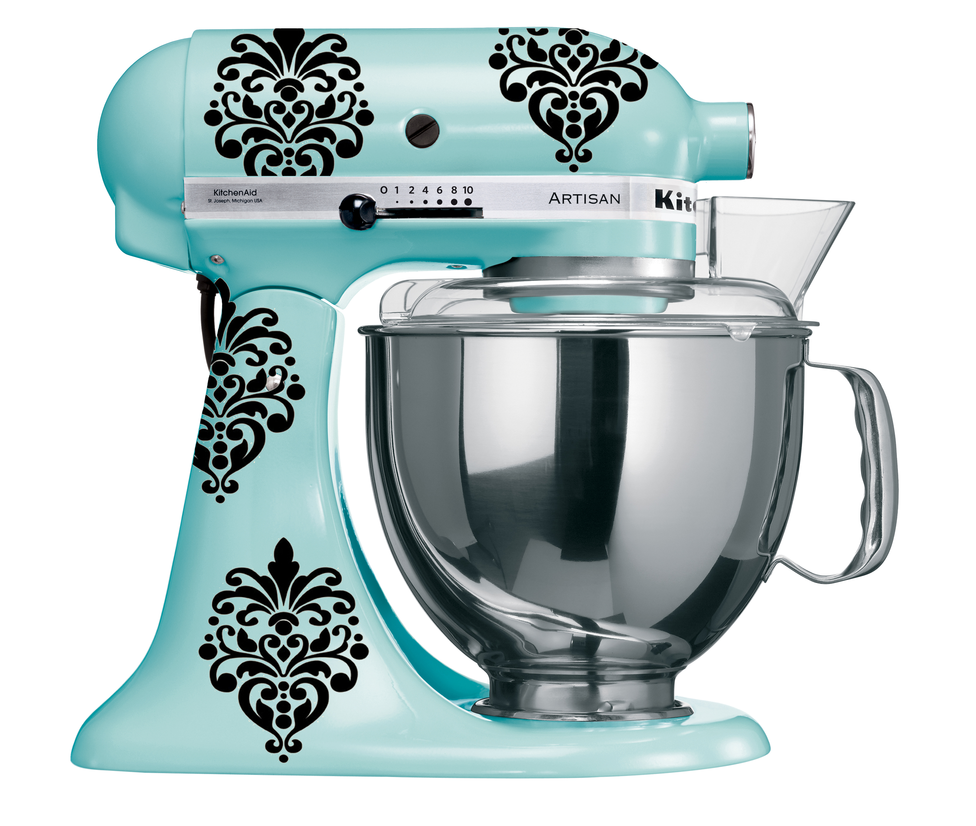 KitchenAid Elegant Damask Vinyl Decals Type II- Set of 8 · Vinyl ...