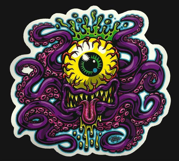 CYCLOPTOPUS Sticker Jimbo Phillips Webstore Online Store - Full color vinyl stickers