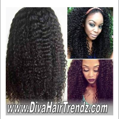 "22"" brazilian kinky curly ""glueless"" lace front wig [*new*]"""