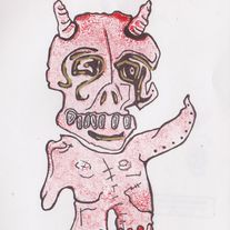 Thrus Gress - ORIGINAL demon art on paper
