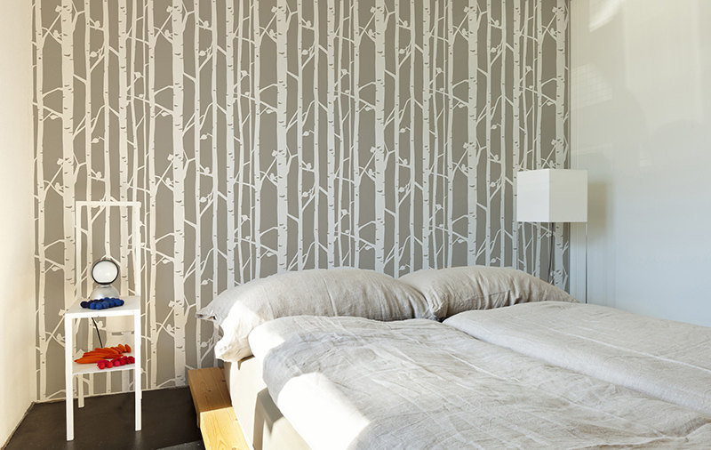 Modern Birch Tree Wall Stencil Decorative Scandinavian Large Wall Stencil  DIY Decorative Wallpaper Look Easy Home