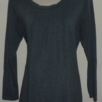 Gray Long Sleeve Top-Tomorrows Mother Size XL