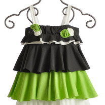 Isobella & Chloe Apple Green Sleeveless Tiered Dress