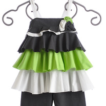 Isobella & Chloe Apple Green Sleeveless 2pc set