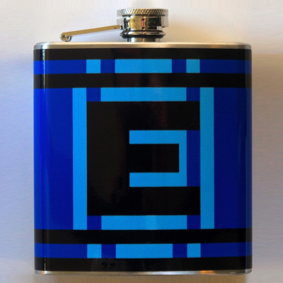 Blue e-flask (6 oz)
