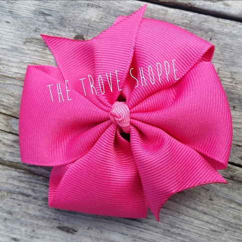 valentines day hair bow large pink on storenvy