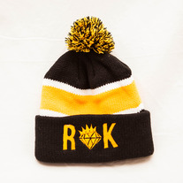 Kingdom Pom Beanie (Gold/Black)