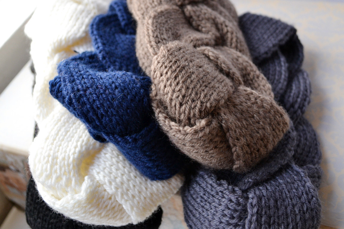 Blue Infinity Knit Headband ? Of Lovely Things ? Online Store Powered by Stor...