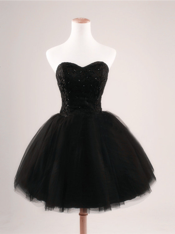 Sweetheart Girl | Fashion Black Sweetheart Short Mini Homecoming ...