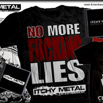 "Itchy Metal ""No More F***ing Lies"" T-Shirt"