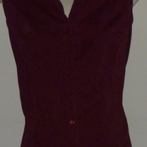 Maroon Sleeveless Shirt with Buttons/Collar-Motherhood Maternity Size XL