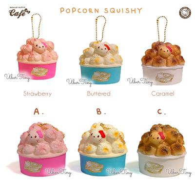 Hello kitty popcorn squishy | lovely sweets cafe (licensed)