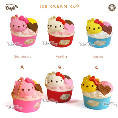 Hello kitty icecream cup squishy | lovely sweets (licensed)