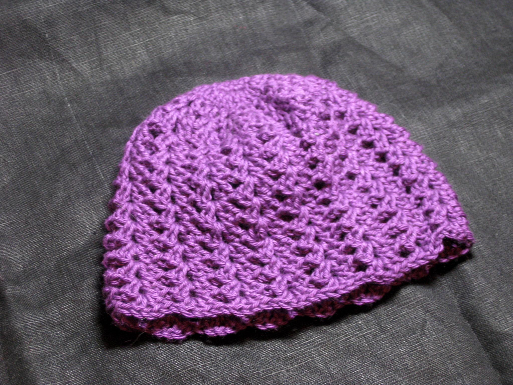 Hamburke S Crochet Crochet Baby Beanie Lacy Shell