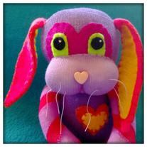 Purple Chevron Sock Bunny