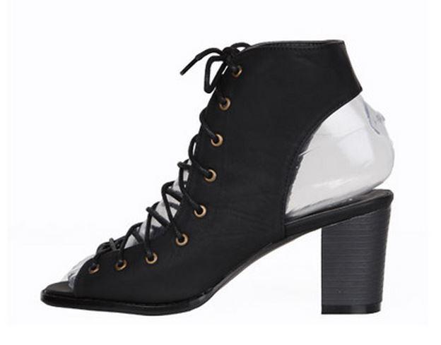 Black Lace up Sandals uk Black Sandals Lace-up