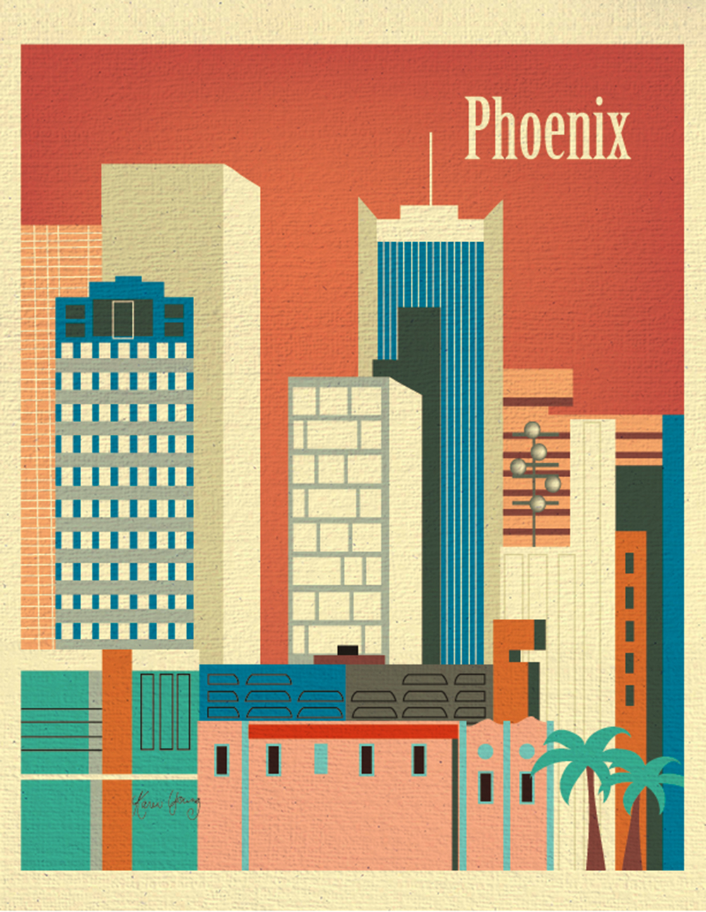 Phoenix, Arizona 11 x 14 Travel Wall Art Poster Print for Home ...