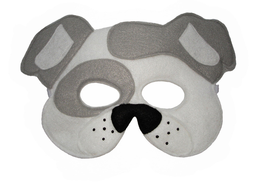 Childrenu0027s White DOG Animal Felt Mask, Brown Bear, Brown Bear, What Do You