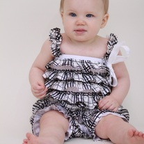 Plaid Satin Petti Romper Baby Girls Ruffle Photo Prop Outfit Dress Up