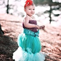 Disney Princess Ariel Inspired Tutu Skirt Costume Partywith accesories Baby to Toddler Size