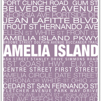Amelia Island Neighborhood Print