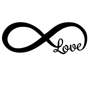 infinity sign. love infinity sign decal