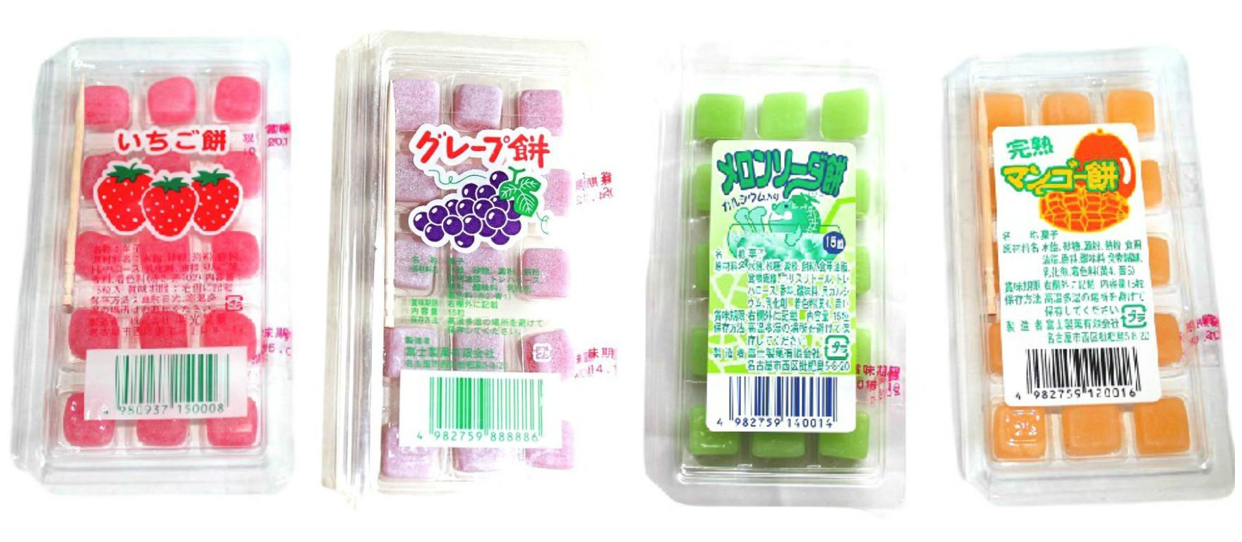 Strawberry Mango Melon Soda Grape Flavor Mochi Candy