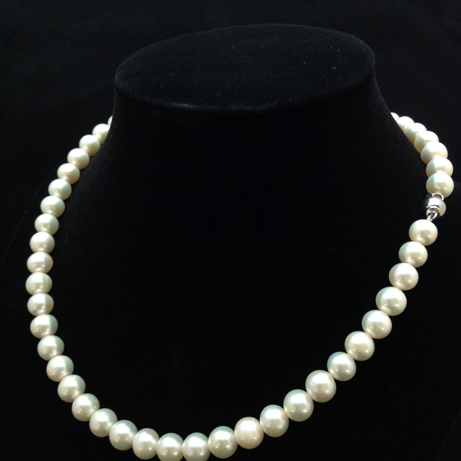 16 Inches Genuine Pearl Necklace, Aa+ Pearl Necklace, Genuine Pearl  Necklace, Free 7mm