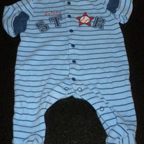 Blue Future Star Sleeper-Carter's Size 3 Months