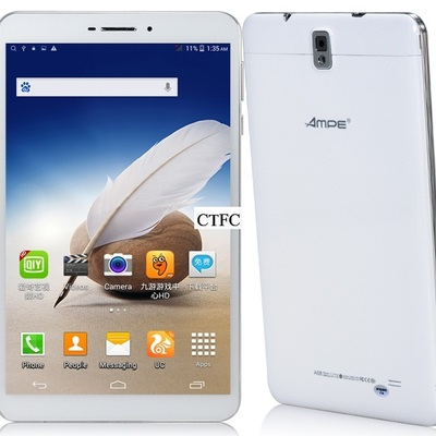 "Ampe a88 quad-core 3g 8.0"" tablet pc 3g phablet ips 1280x800 android 4.4 mtk8382 quad-core 1.5ghz 1gb ram 8gb rom 5mp (white)"