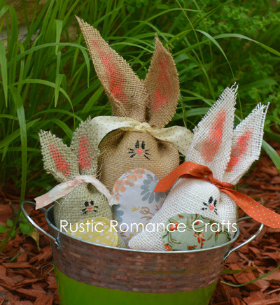 Burlap Easter Bunny Set