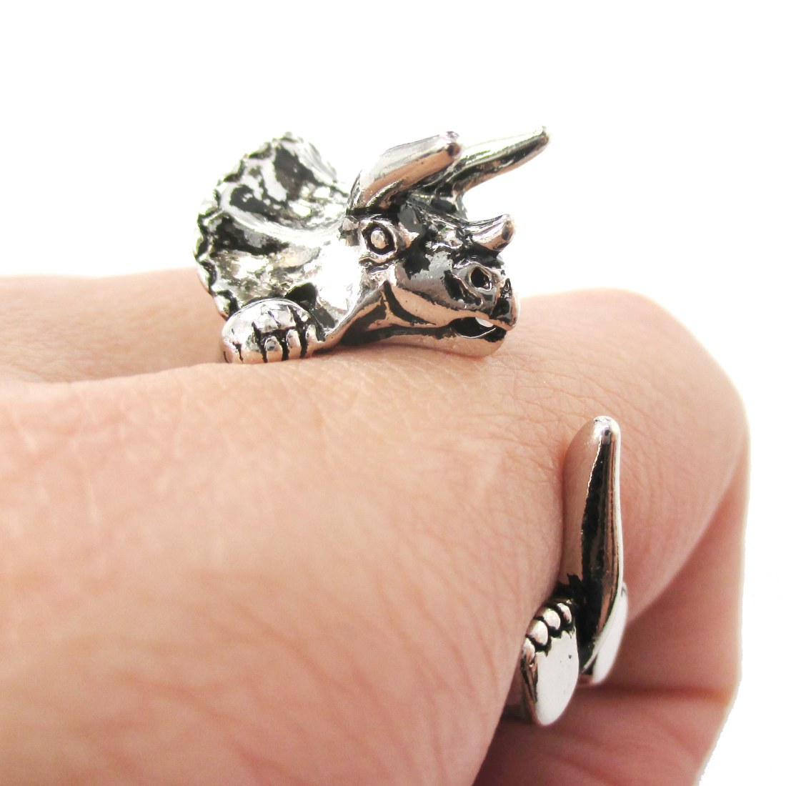 pin wedding engagement dinosaur ring and holder ceramic for made rings