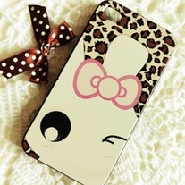 New Cute Leopard Pattern Rabbit Face iPhone Hard Case Cover