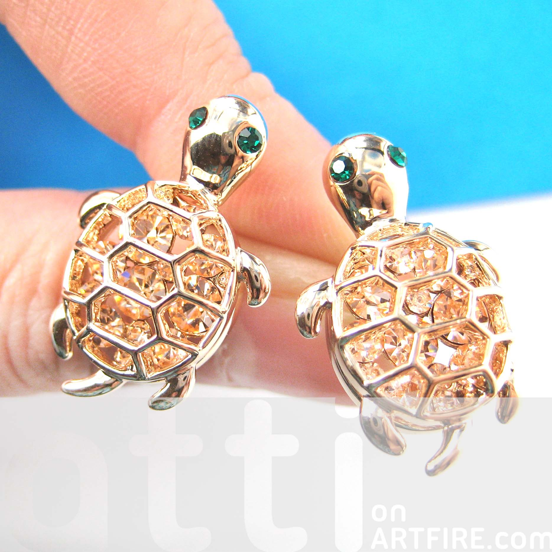 turtle stud earrings aztec